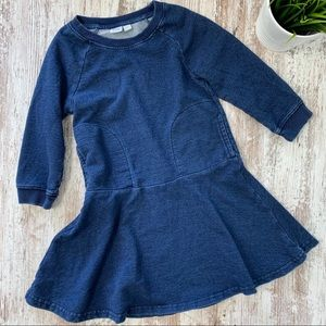 GAP KIDS Girls SMALL Blue Sweatshirt Dress EUC